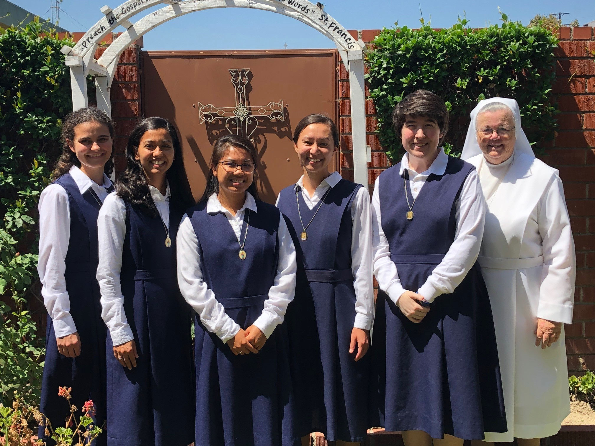 Postulates at Bellflower, CA, Formation House training to become Sisters